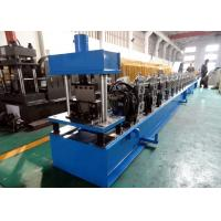 Quality Galvanized Quad Gutter Roll Forming Machine , Electric Control Gutter Rolling Machine for sale