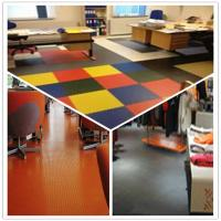 Quality 3W Anti Slip Indoor Office Interlocking Removable Plastic PVC Floorommg Tiles for sale