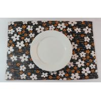 Quality Oriental Brown Floral Dining Table Mats Kitchen Table Placemats for sale