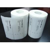 Quality Adhesive Blank Sticker Labels , Permanent Thermal Transfer Labels for sale