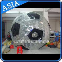 Quality Football Shape Inflatable Zorb Ball , Zorbing Ball Used On The Sea for sale