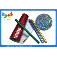 Quality Laser Design Self Adhesive Holographic Film / Metallized Bopp Film For Cigarette for sale