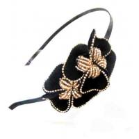 Quality Velvet Flower Slim Headband 2A0058 for sale
