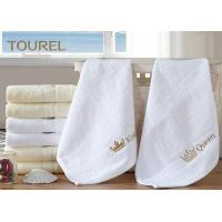 Quality 100% Cotton White Hotel Hand Towel 80 x 160 for sale