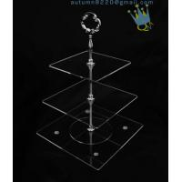 Buy CD (42) 3-layer cake stand with silver stick at wholesale prices