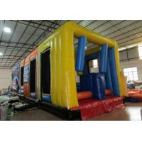 Quality New design inflatable bus obstacle course inflatable public bus shaped obstacle courses inflatable outdoor games for sale