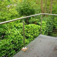 Quality Outdoor Balcony Railing Stainless Steel Cable Railing/Wire Rope Fittings for sale