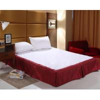 Quality Easy Fit Bed Skirt Double Size , White Ruffle Bed Skirt For Spa for sale