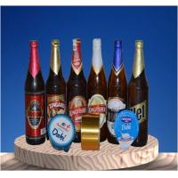 ISO9001 Certificate Beer Neck Label UV Proof Silk Screen Glossy Lamination