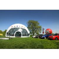 Buy cheap Waterproof  PVC fabric 20m diameter geodesic dome tent / dome shelter systems from wholesalers