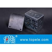 Quality Steel Square Junction Box , Electrical Boxes And Covers For Lighting Fixtures for sale