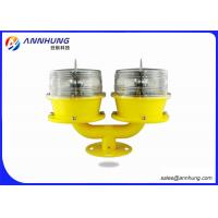Quality Double Low Intensity LED Solar Obstruction Light For Wind Turbines /  High Rise Building for sale