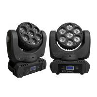 Buy 7 Pcs 12W 4 In 1 RGBW LED Beam Moving Head Light , Mini LED Wash Light For Disco at wholesale prices