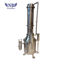 Quality Electric Heating Tower Double SS 200L/H Water Distilling Apparatus for sale
