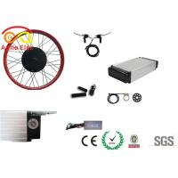 Quality 500 Watt Fat Tire Electric Bike Conversion Kit With Rear Rack Type Battery for sale
