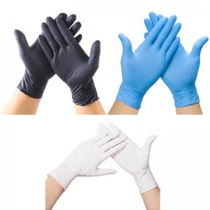 Quality Spot Black Nitrile Gloves Disposable Powder-Free Latex PVC Vinyl Gloves for sale