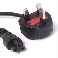Power Cord UK Plug to C5 Clover Leaf CloverLeaf Lead Mickey Mouse1.8m Cable for sale
