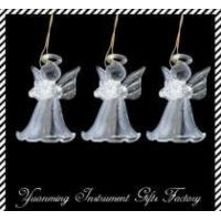 Quality colored christmas decoration  glass angel for sale