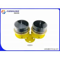 Quality Standby Solar Aviation Obstruction Light , Low - Intensity Double Solar Airfield Lighting for sale