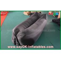 Quality Light Black Customized Sleeping Inflatable Air Bags For Beach Nylon Cloth for sale
