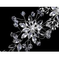 Buy cheap Fashion Silver Plating brass fabric Girls Bridal Hair Ornaments with Elegant from wholesalers