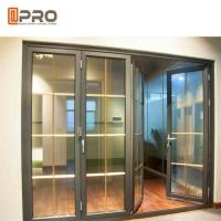 Quality Horizontal Aluminum Folding Doors For Kitchen With Double Tempered Glass for sale