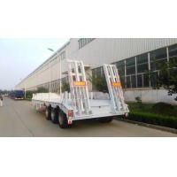 Quality 13000M 3 Alxes Lowbed Heavy Duty Semi Trailers 50-60T 12 Tires With 2 Legs for sale