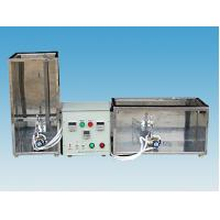 Quality Electric Wire Vertical Horizontal Flammability Tester 20 Degree With Gas Control Valve for sale