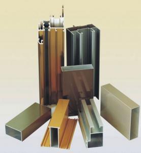 Quality Powder Coating Aluminium Door Profiles , Deep - Processing Aluminum Door Extrusions for sale