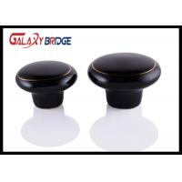 Buy cheap Black Kitchen Cupboard Ceramic Handles And Knobs 32mm Dia Round Porcelain Dresser Pulls from wholesalers