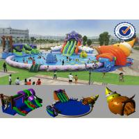 Quality PVC Inflatable 30M Pool Inflatable Water Parks Huge Slide For Summer for sale