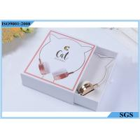 Headset White Cardboard Gift Boxes , Drawer Type Logo Printed Gift Boxes