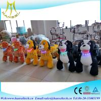 Quality Hansel amusement park car ride toy rider coin operated stuffed animals that walk motorcycle child electric walking toys for sale