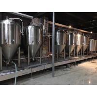 Quality 2000L Large Scale Brewing Equipment 304 Sanitary Pumps With VFD Controls for sale