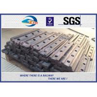 China 4 Holes BS80A Railway Fish Plate Rail Joint Bars steel fish plates With Plain Colors on sale