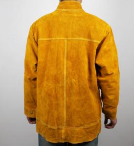 Quality Durable Cow Leather Split Welding Suit Coat Protection Clothes PPE Safety Wear for sale