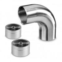 Quality Stainless Steel Wood Handrail Connectors Brushed / Polished Type Available for sale