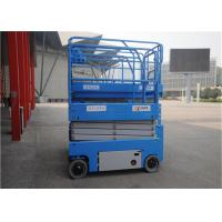 12m Self Propelled Scissor Lift Elevated Single Person Storage Battery Power for sale