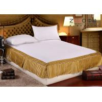 Buy Quilted Hotel Bedding Sets / Hotel Bed Skirts With Fitted Sheet at wholesale prices