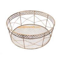 Quality China Factory Price Direct Mesh Design Round Metal Trays For Home and  Hotel Use for sale
