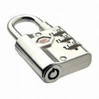 Quality Combination Padlock with Four Wheels, Zinc-alloy Outer Housing and Barrel for sale