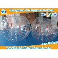 Transparent Inflatable Bubble Ball Soccer Rental With Silk Printing , Great Workmanship