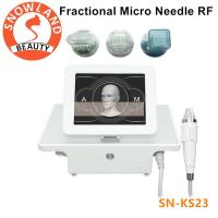 Quality Micro needle acne scar remover Wrinkles/freckle/pigment/ removal portable fractional rf microneedle machine for sale