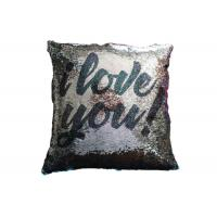 Quality Two Sides Reversible Sequin Pillow I Love You Word Printing Pillow Cases For Sofa Decoration for sale