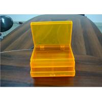 Quality Orange 2layers Acrylic Jewelry Display Case With Drawers , Dyeing And Painting for sale
