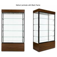 Quality Multi Colored Frame Wood And Glass Display Case , Lockable Glass Showcase Cabinet for sale