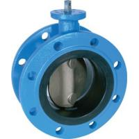 Quality iso 5752 mini hand lever operated double flanged butterfly valve for sale
