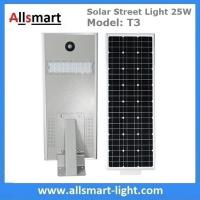 Quality 25W Solar Street Light Outdoor All in One Integrated Solar LED Street Light Solar Driveway Lights with / without Pole for sale