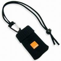 Quality Handy Mobile Phone Sock Lanyard with Logo on PVC Rubber Label, Made of Polyester for sale