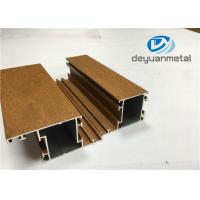 Buy 1.1mm - 1.6mm Thickness Wooden Grain Aluminum Window Extrusion Profiles SGS at wholesale prices